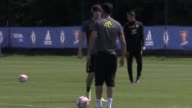 Chelsea first team training ahead of their FA Cup final clash against Arsenal on Saturday Featuring N'Golo Kante Hazard Terry Costa and Cahill
