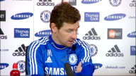 Chelsea manager Andre VillasBoas insists he has full backing of Roman Abramovich ENGLAND London INT Andre VillasBoas press conference SOT No I don't...