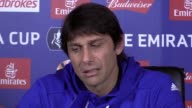 Chelsea manager Antonio Conte speaking to the media ahead of their FA Cup quarterfinal clash against Manchester United on Monday