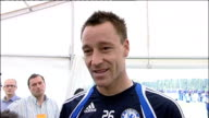 Chelsea players training / John Terry interview Terry interview SOT Only beat Portsmouth 21 at home /They've had a great cup run and good League...