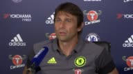 Chelsea press conference Antonio Conte press conference SOT on importance of player confidence