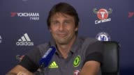 Chelsea press conference Antonio Conte press conference SOT on improving player's performances / on music in changing room before game he would...