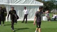 Chelsea training session ahead of FA Cup Final ENGLAND EXT Manager Antonio Conte and Chelsea players including Cesc Fabregas Eden Hazard Gary Cahill...