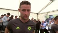 Chelsea training session ahead of FA Cup Final Gary Cahill interview SOT