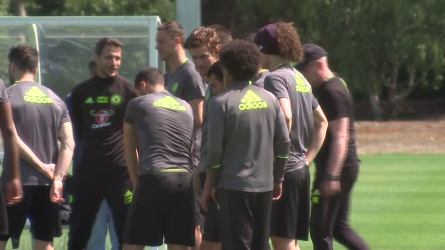 Chelsea training session ahead of FA Cup Final General views of Chelsea training session including Cesc Fabregas Willian Diego Costa / Players having...