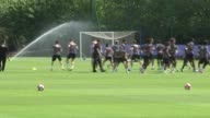 Chelsea training session ahead of FA Cup Final More of team training including John Terry Gary Cahill Cesc Fabregas and others / Manager Antonio...