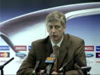 Chelsea v Arsenal in Champions League Arsene Wenger at press conference SOT Try and win the game positive attitude