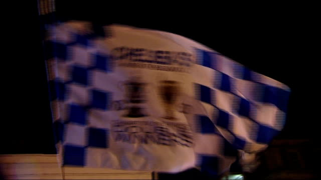 victory parade through streets ENGLAND London Chelsea fans cheering SOT Chelsea fans singing SOT GERMANY Bavaria Munich Allianz Arena Vox pops