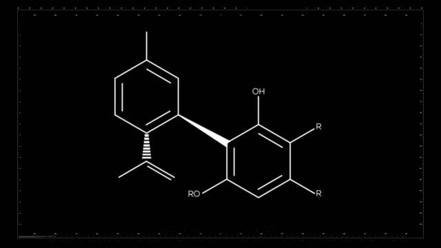 Chemische formule van CBD   Cannabinoïde