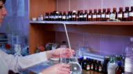 Chemist working in laboratory