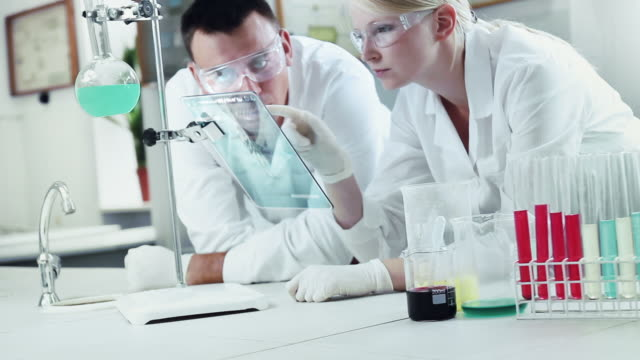 Chemists at Work In A Laboratory.