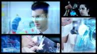 Chemists in Laboratory split screen