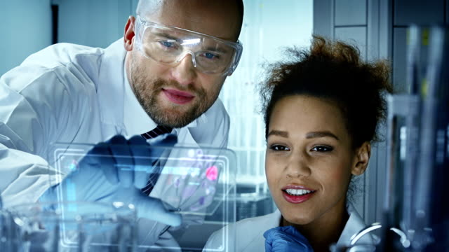 Chemists in modern Laboratory