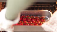 Cherry tomatoes in the oven