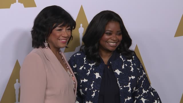 Cheryl Boone Isaacs and Octavia Spencer at the 89th Annual Academy Awards Nominee Luncheon at The Beverly Hilton Hotel on February 06 2017 in Beverly...