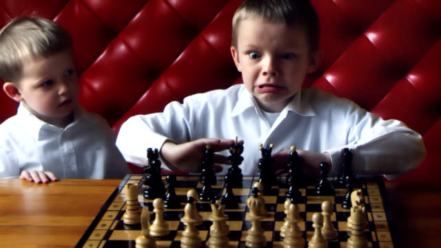 Chess boy anger