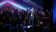 PERFORMANCE Cheyenne Jackson performs at The Trevor Project's 2014 'TrevorLIVE' Event Honoring Arianna Huffington at Marriott Marquis Hotel on June...