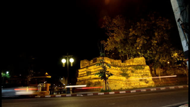 Chiang Mai city wall timelapse, Thailand