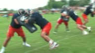 WGN Chicago Bears at Day 1 of Training Camp in Bourbonnais Illinois on July 27 2017