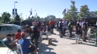 WGN Chicago Bears Fans Tailgate Outside Soldier Field on September 13 2015