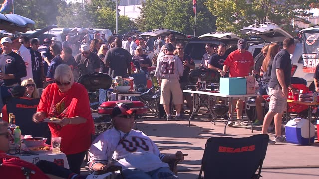 Chicago Bears fans tailgating at Soldier Field on Sept 7 2014 in Chicago
