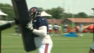 WGN Chicago Bears Players at Training Camp held on the campus of Olivet Nazarene University in Bourbonnais Illinois