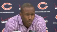 Chicago Bears star wide receiver Brandon Marshall held a news conference on Sept 18 2014 in Chicago