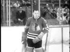 WGN Chicago Blackhawks ceremony in which a goalie appears to to be awarded a new car in 1962