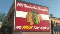 WGN Chicago Blackhawks Mural on June 27 2013 in Chicago Illinois