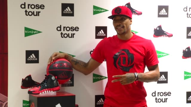 Chicago Bulls Basketball star Derek Rose Promotes a new range of Adidas footwear at El Corte Ingles department store Derek Rose in Madrid at El Corte...