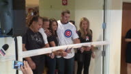 WGN Chicago Cubs first baseman Anthony Rizzo attended a ribbon cutting ceremony at Ann Robert H Lurie Children's Hospital on Aug 29 2017 In...