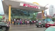 WGN Chicago fastfood workers protested outside the Rock N Roll McDonald's following the filing of 15 federal sexual harassment complaints against the...