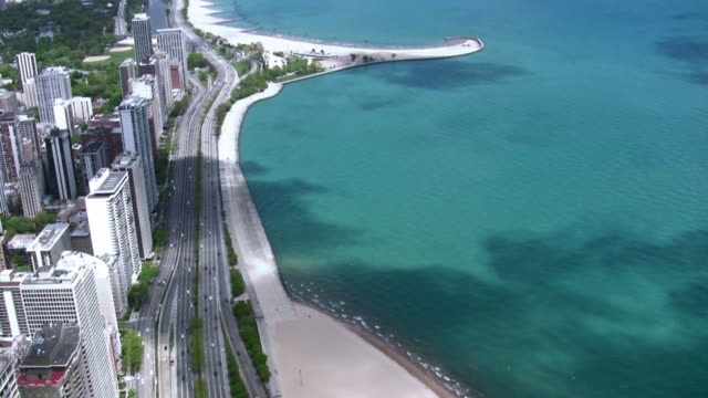 Chicago Lake Shore Drive Aerial View
