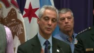 WGN Chicago Mayor speaks at a press conference on Nov 24 2015 before releasing the police dashcam video that captured the police shooting of Laquan...