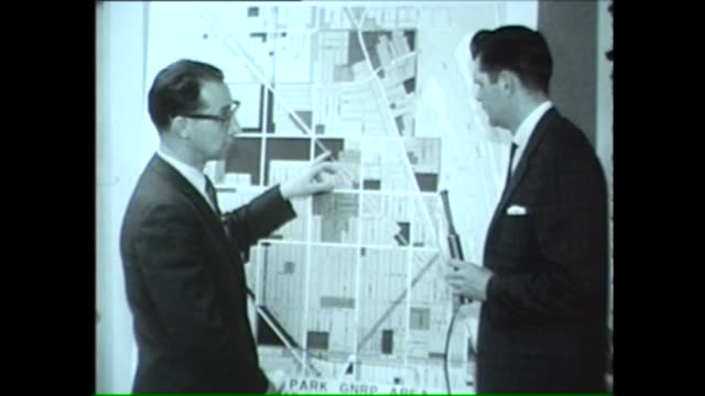 Chicago official explains to a WGN reporter how plans to renovate Lincoln Park will affect traffic in 1962