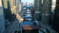 TL Chicago River Bridges sunrise