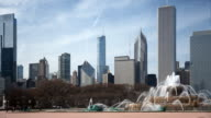 Skyline von Chicago und Buckingham Fountain