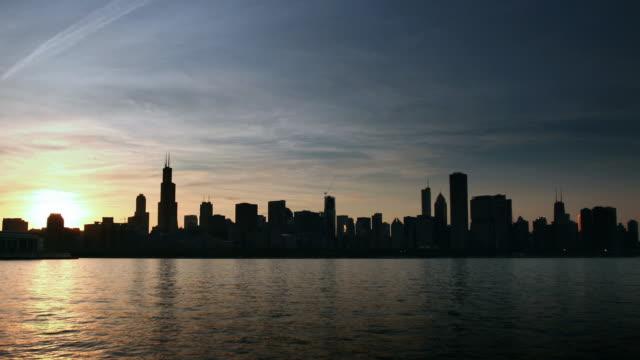 Chicago Skyline Nightfall Timelapse
