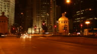 Chicago Traffic By Night - Timelapse
