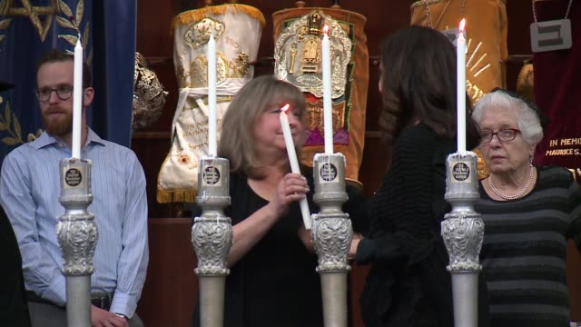 WGN Chicago's 72nd Annual Holocaust Memorial Service Skokie Valley Agudath Jacob Synagogue on April 23 2017