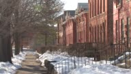 Chicago's Pullman Apartment buildings along 111th Street at Cottage Grove Avenue on Feb 10 a week before President Barack Obama planned to personally...
