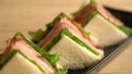 chiciken and ham sandwich