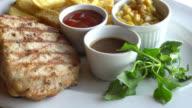 Chicken and Pork steak