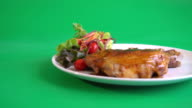 chicken steak with BBQ sauce