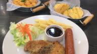 chicken steak with sausage
