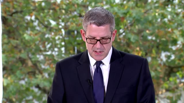 MI5 chief Andrew Parker says scale of terror threat highest he has seen London INT Andrew Parker press conference SOT Attacks can sometimes...