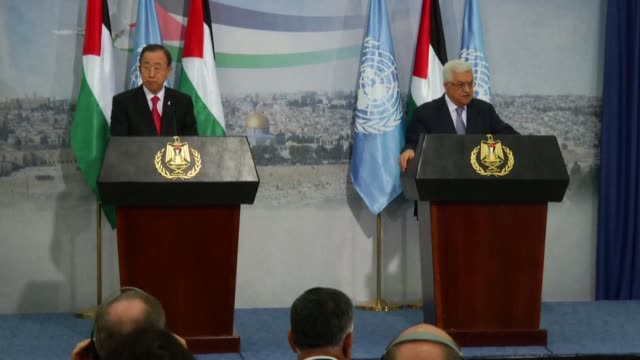 UN chief Ban Ki moon called for an immediate halt to rocket attacks on Israel from the Gaza Strip after talks with Palestinian president Mahmud Abbas...