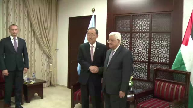 UN chief Ban Ki moon meets Palestinian president Mahmud Abbas on Wednesday after talks with Israeli leaders warning both sides to back away from a...