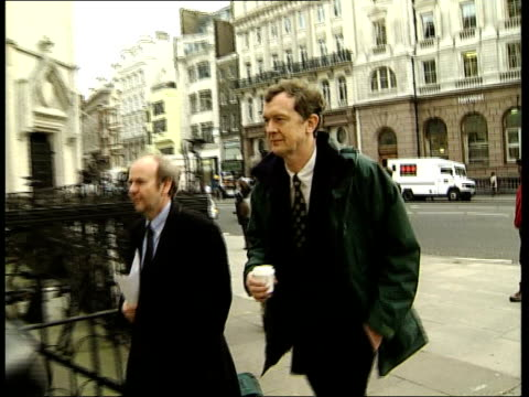 Chief Executive Stewart Purvis and EditorinChief Richard Tait along to court Hume towards from court with others PAN Author of LM article Thomas...