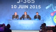 UEFA chief Michel Platini speaking exactly a year before the Euro2016 kickoff on Wednesday declined to be drawn on scandals shaking the world...